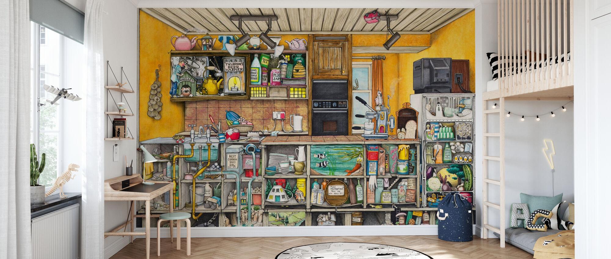 Die Küche - Tapete - Kinderzimmer