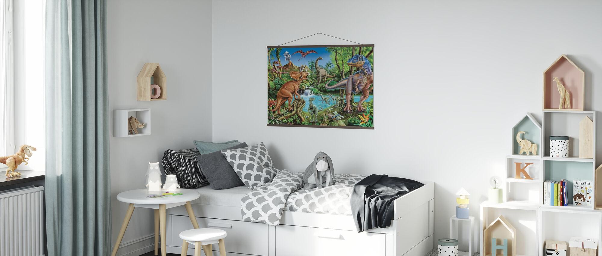 Dinosaur-fossen - Plakat - Barnerom