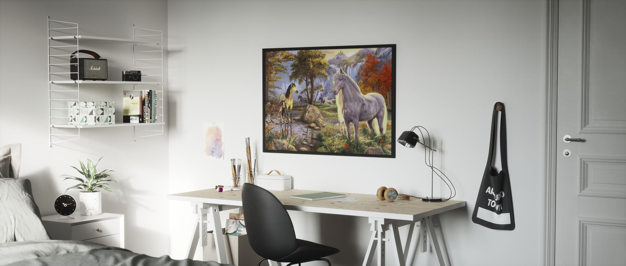 Dolda bilder - Hästar - Inramad tavla - Barnrum