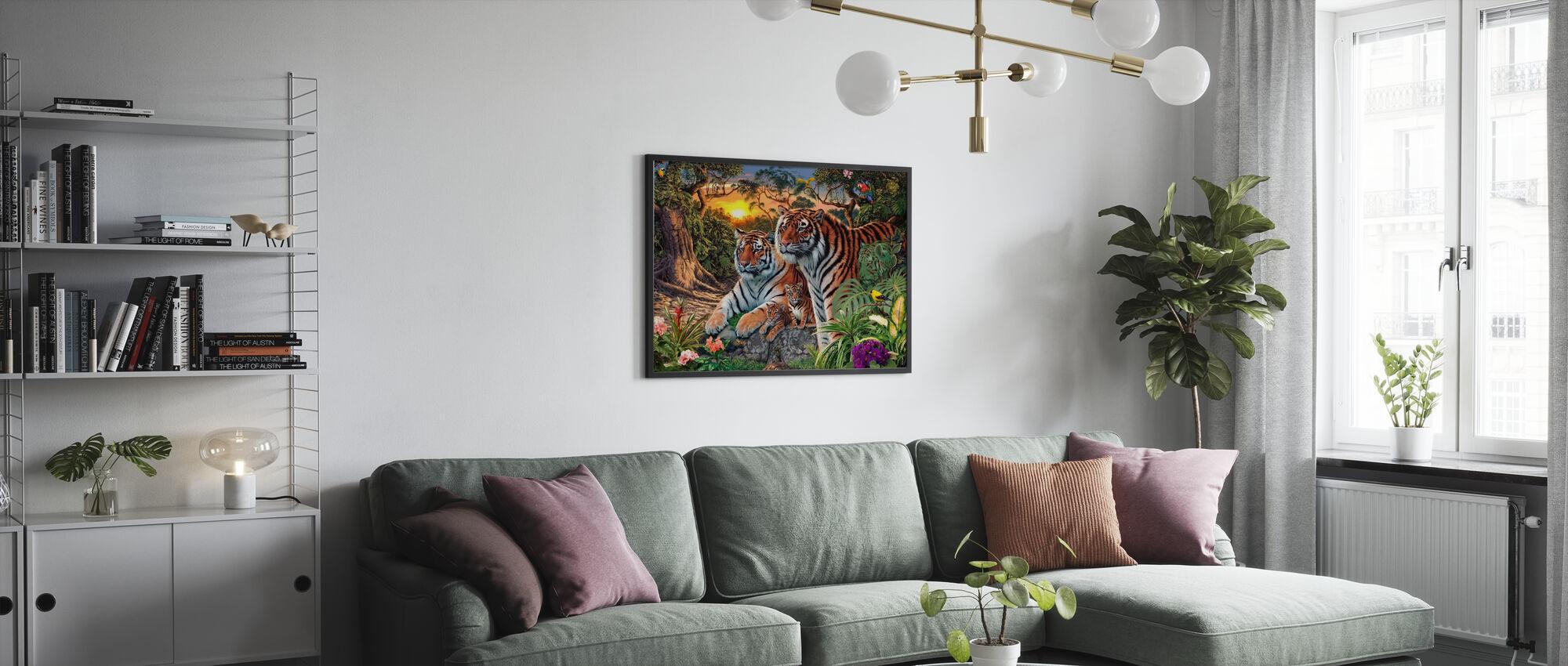 Immagini nascoste - Tigers - Stampa incorniciata - Salotto