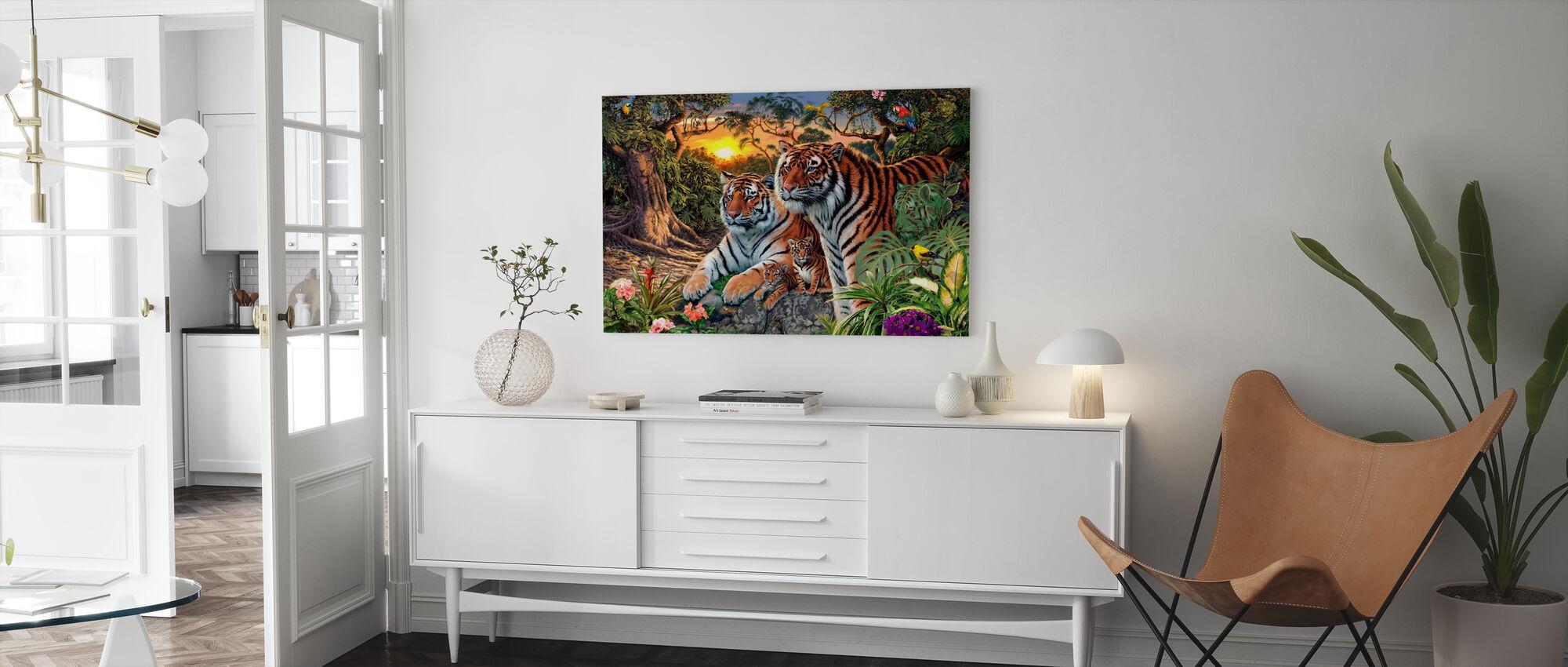 Skjulte billeder - Tigers - Lerretsbilde - Stue