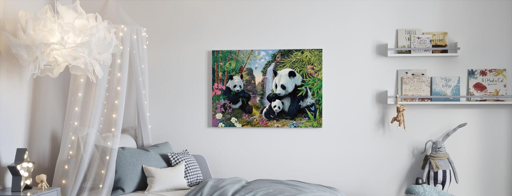 Valle del Panda - Stampa su tela - Camera dei bambini