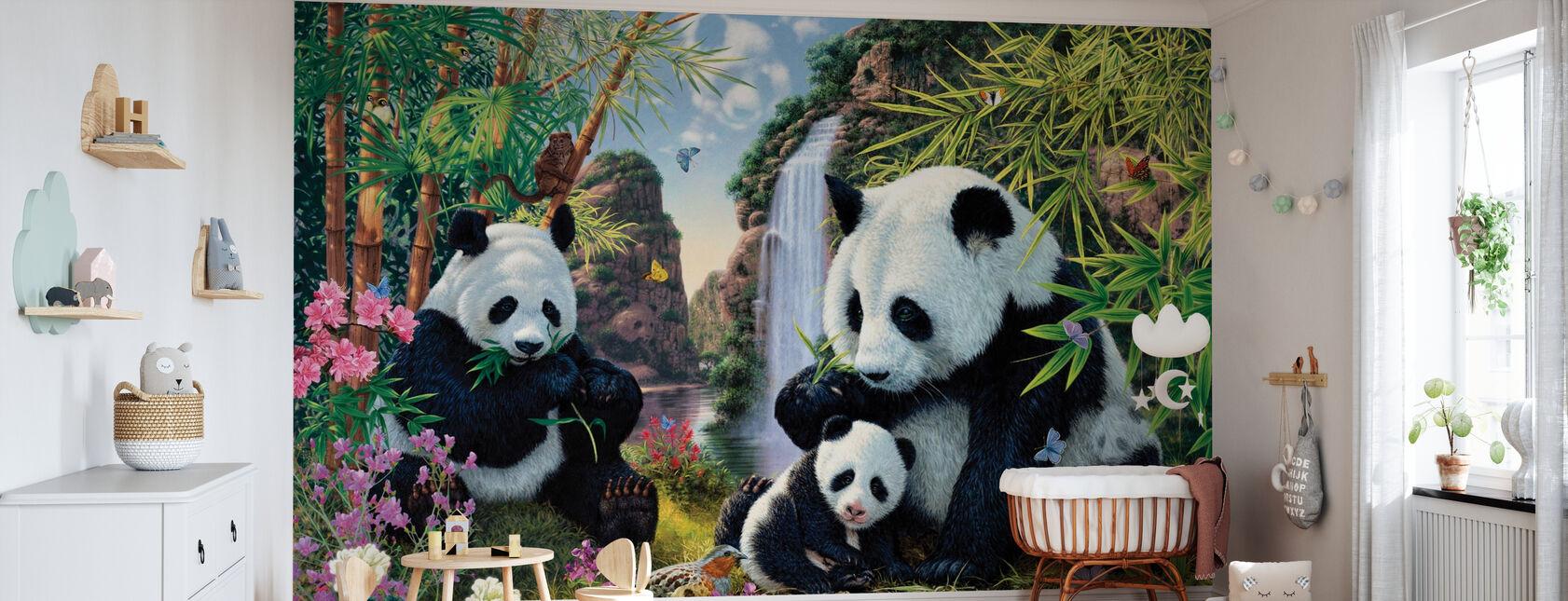 Panda-dalen - Tapet - Babyrom