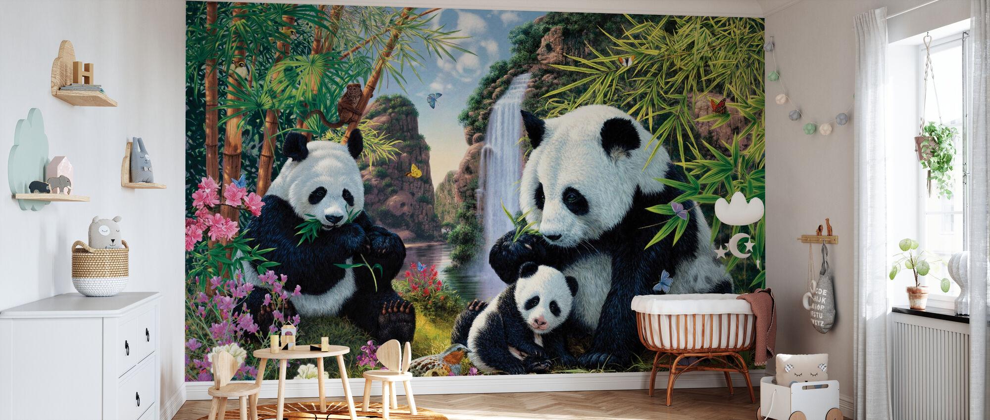 Panda Valley - Wallpaper - Nursery