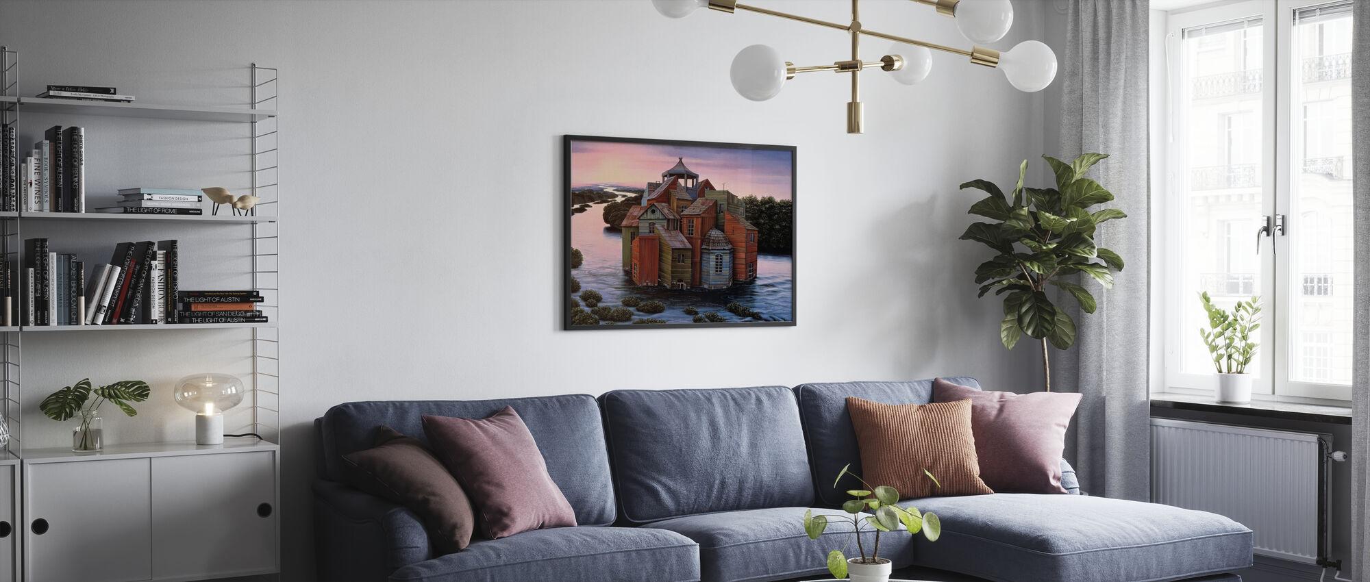Fallingwater Landgoed - Ingelijste print - Woonkamer
