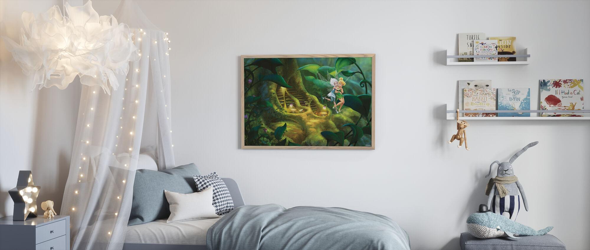 Fairies - Roten av treet - Innrammet bilde - Barnerom