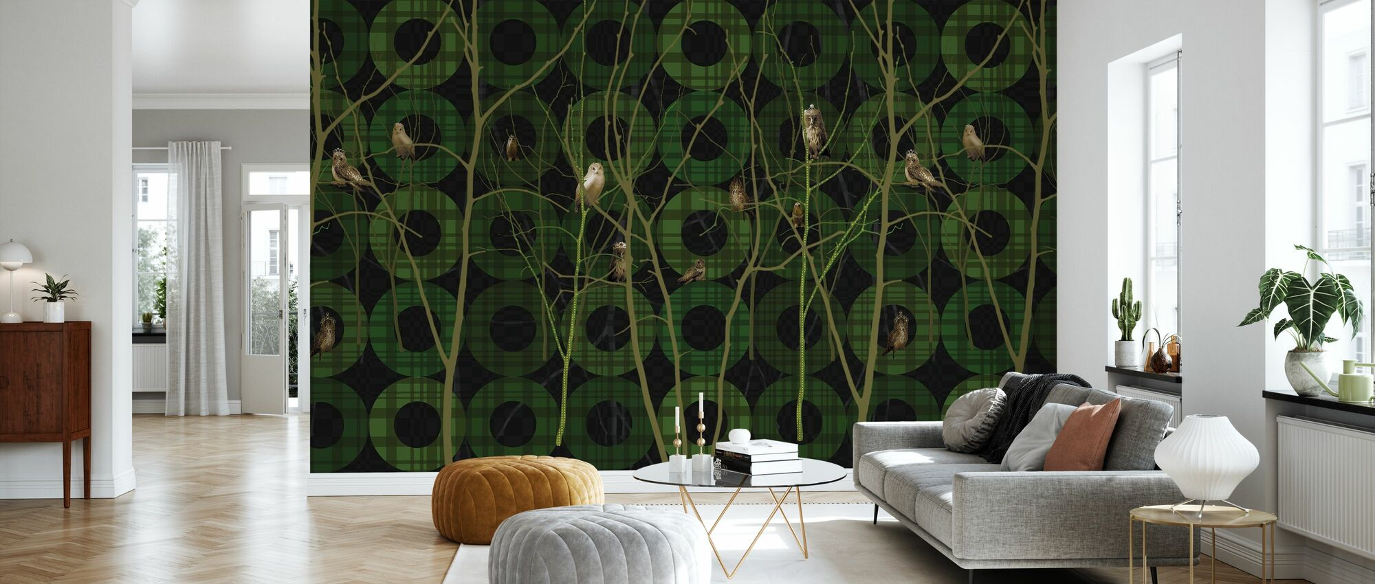 Noble Green - Wallpaper - Living Room