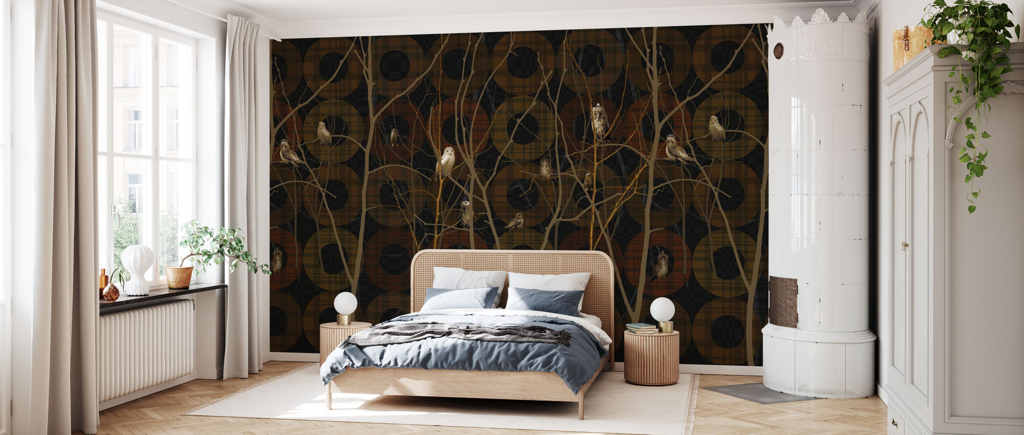 Noble Brown - Wallpaper - Bedroom