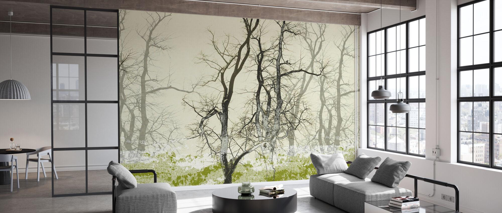 Wander Land Moss - Wallpaper - Office