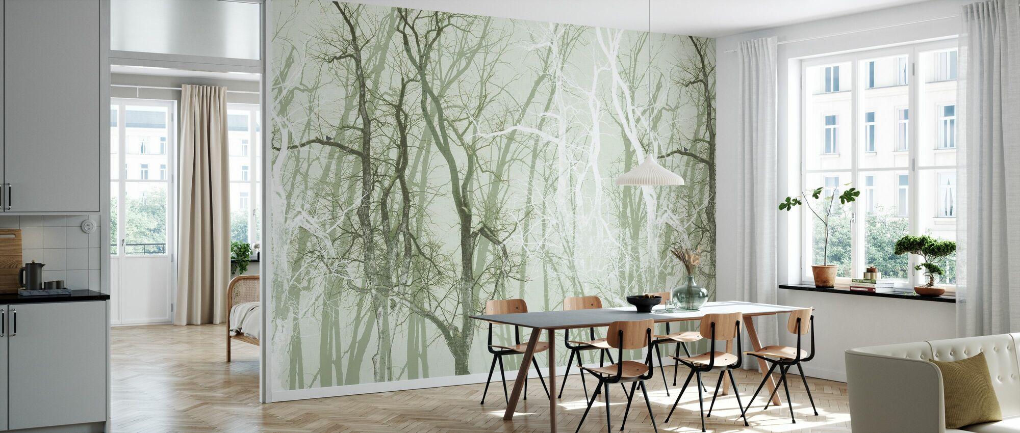 Vandre trær Grønn - Tapet - Kjøkken