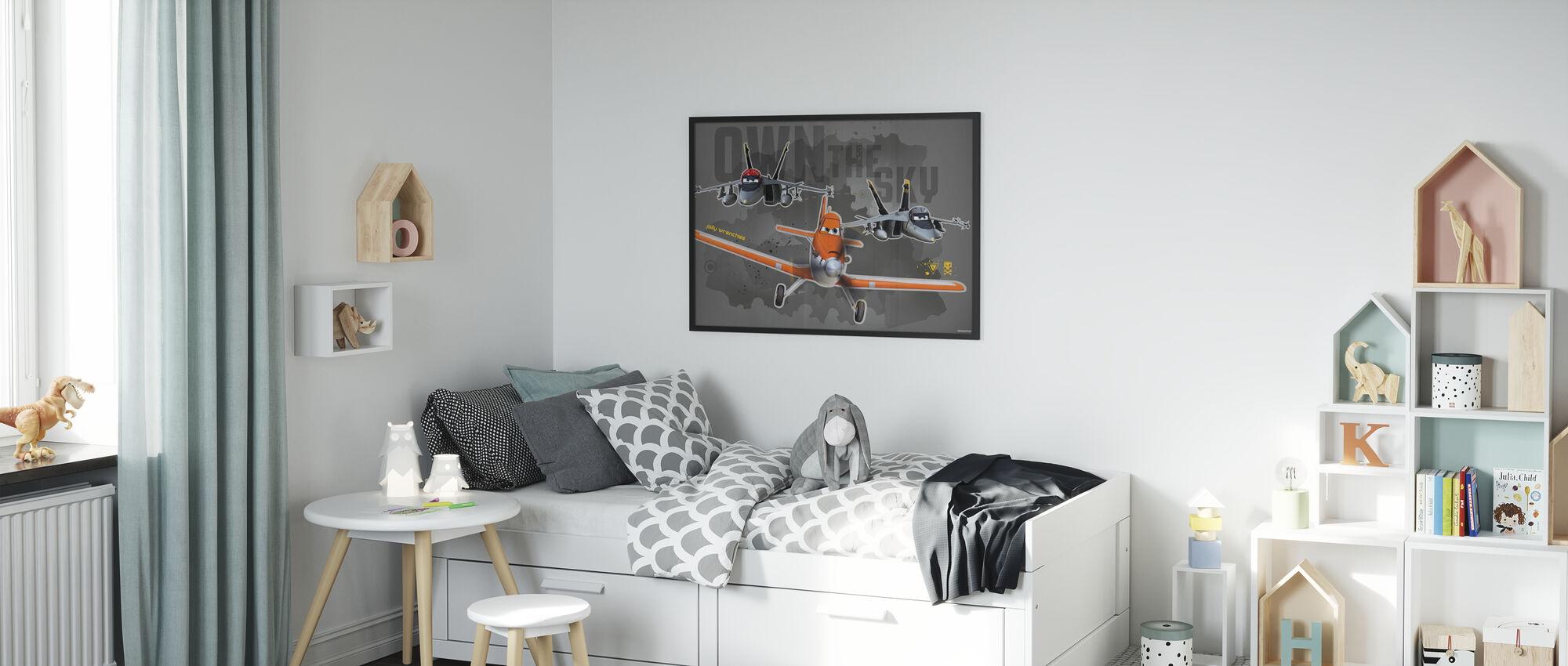 Fly - Jolly Skiftenøkler - Innrammet bilde - Barnerom