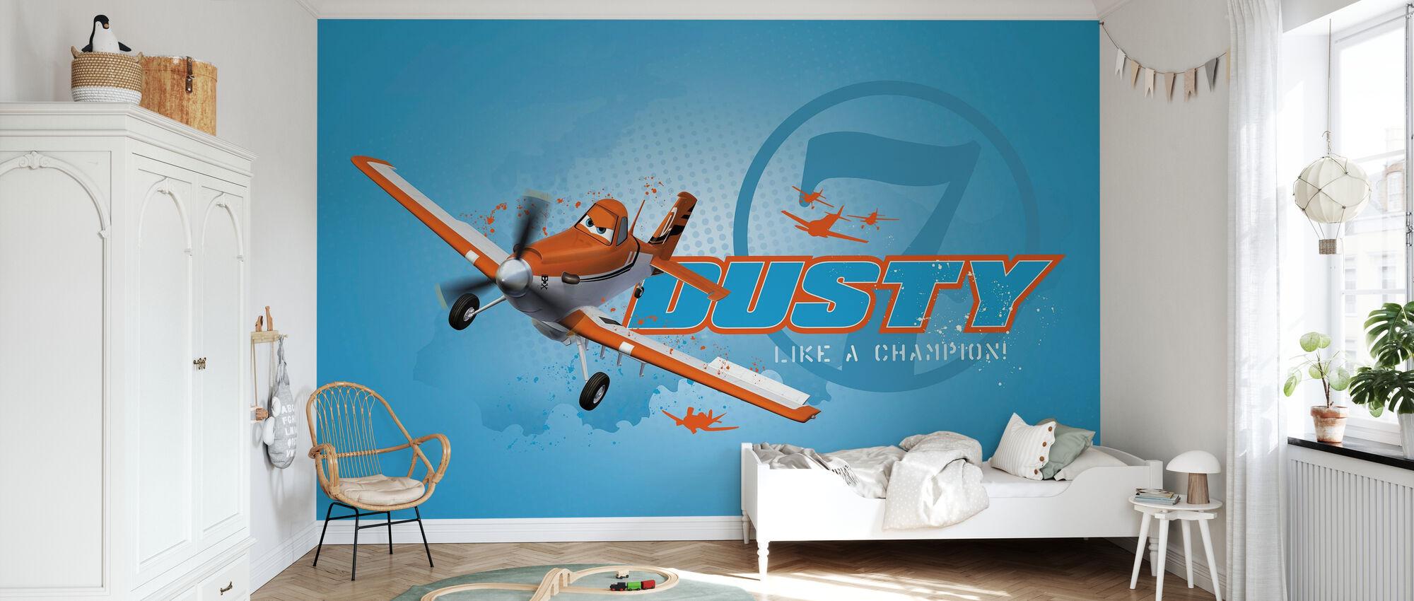 Lentokoneet - Dusty Champion - Tapetti - Lastenhuone