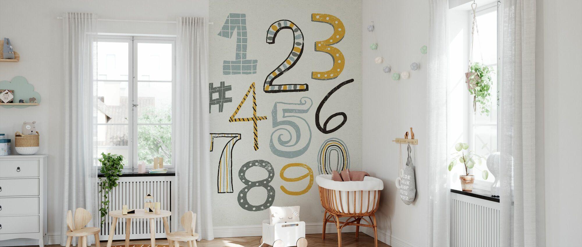 Funky Numbers - Wallpaper - Nursery