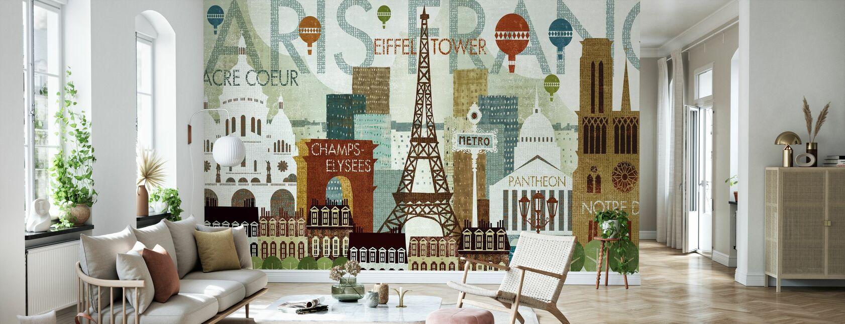 Hallo Paris - Tapete - Wohnzimmer