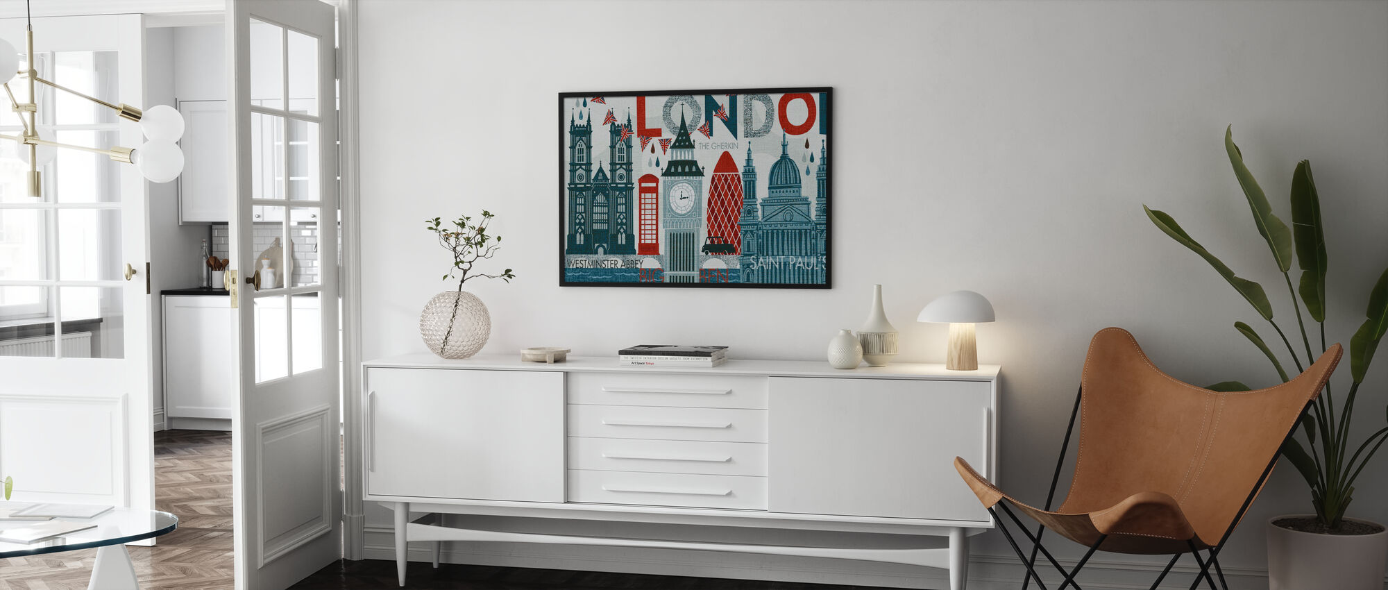Hello London - Framed print - Living Room