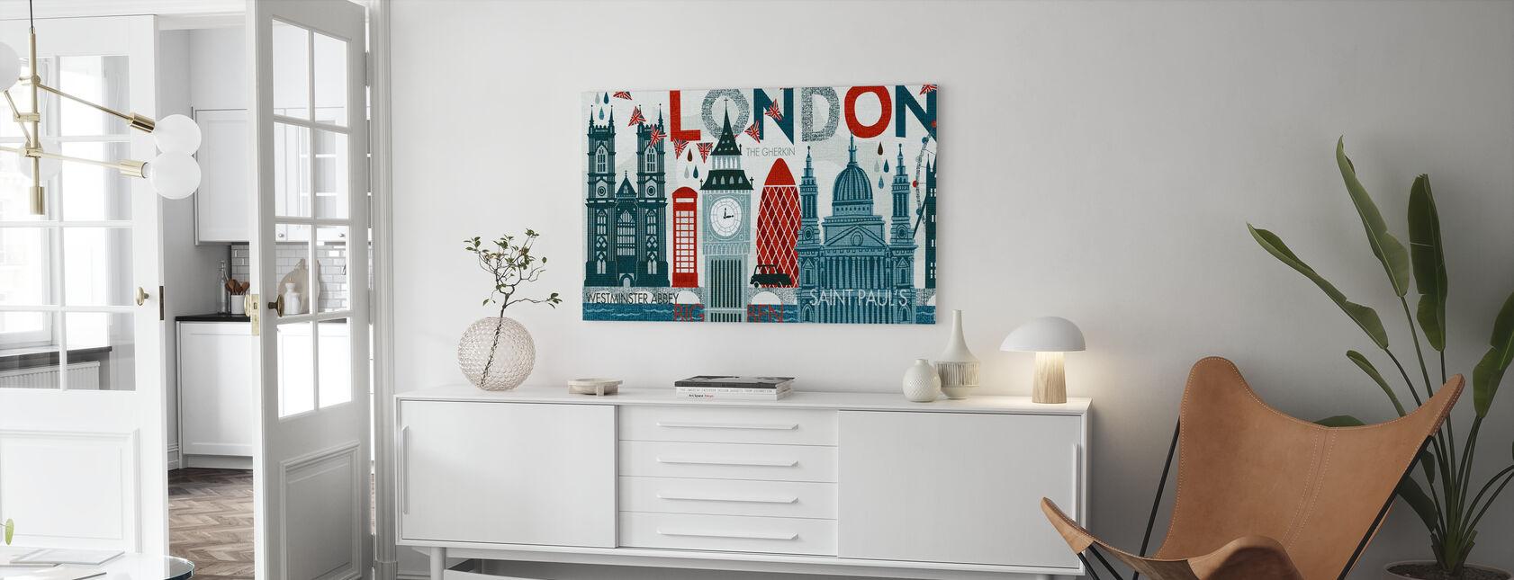 Ciao Londra - Stampa su tela - Salotto