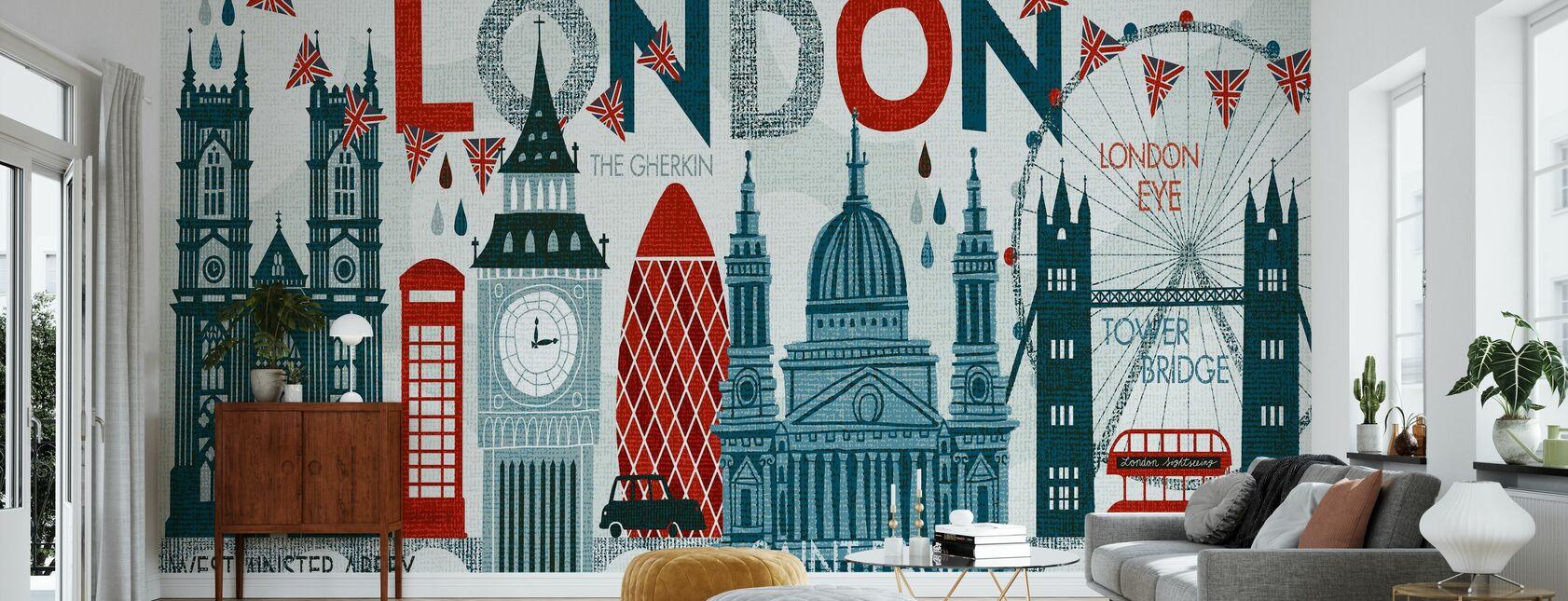 Hello London - Wallpaper - Living Room