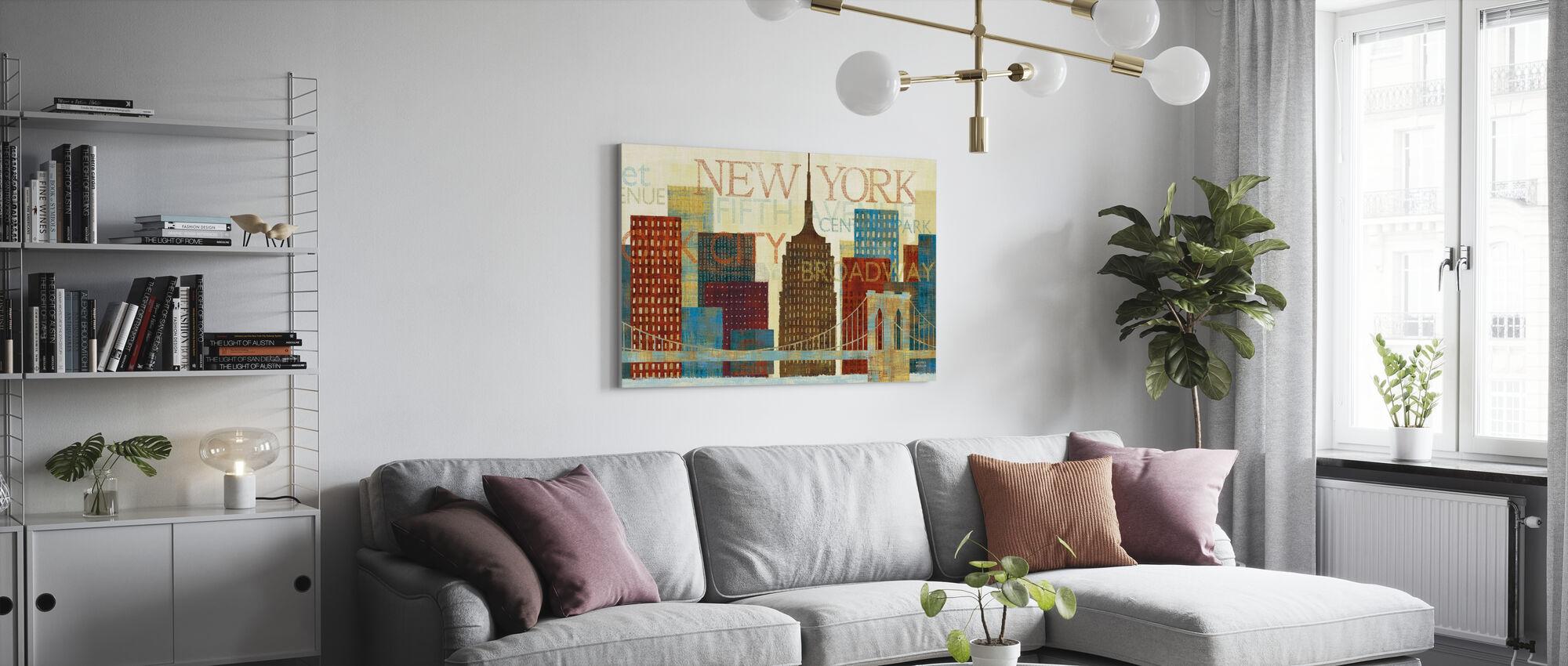 New York - Billede på lærred - Stue