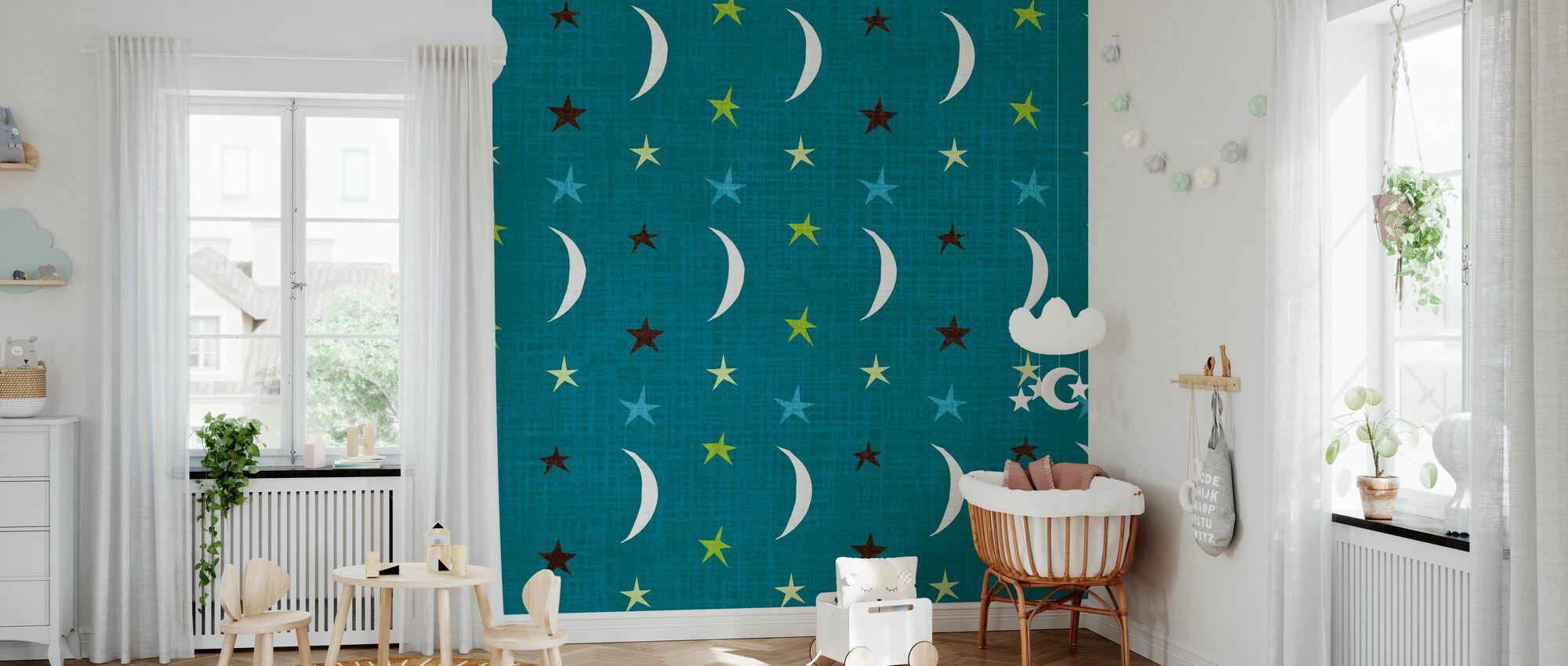 Night Owl V - Wallpaper - Nursery