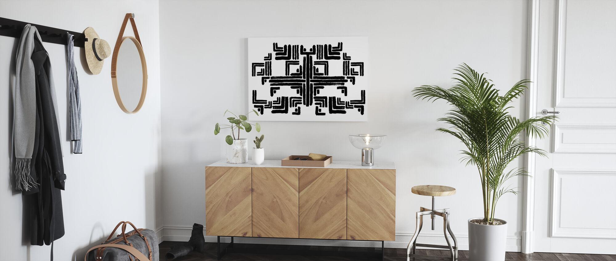 Tribe White Black - Canvas print - Hallway