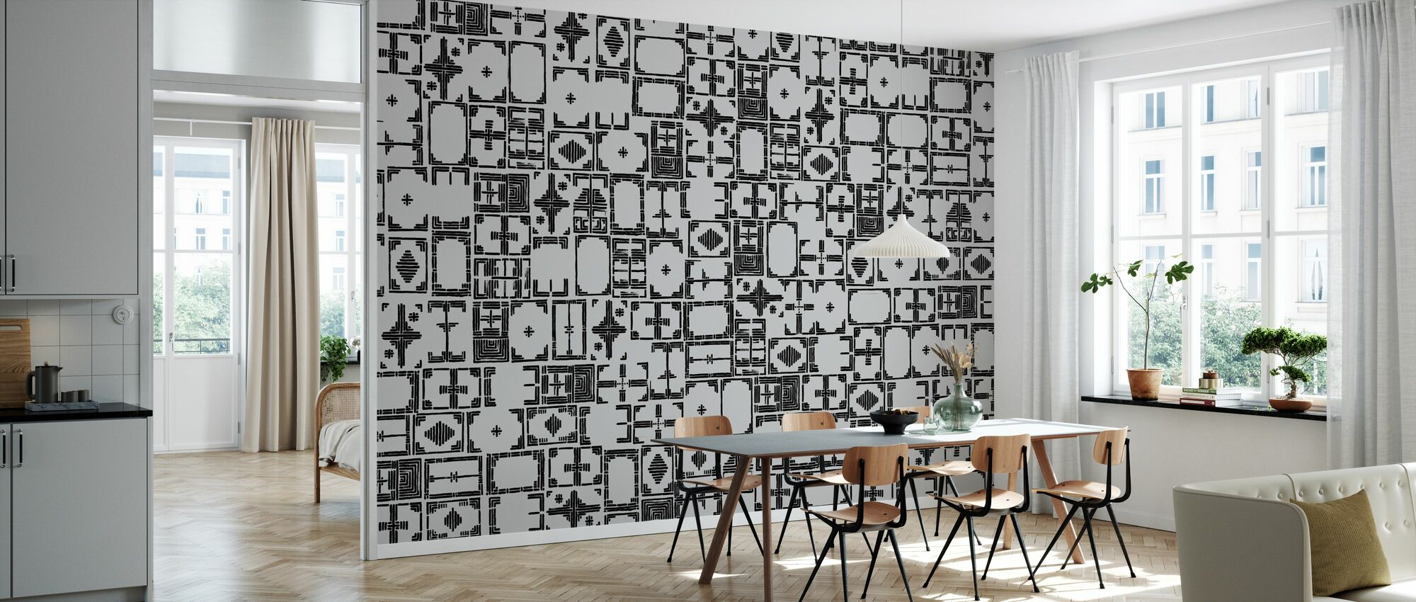 Stained Black Grey - Wallpaper - Kitchen
