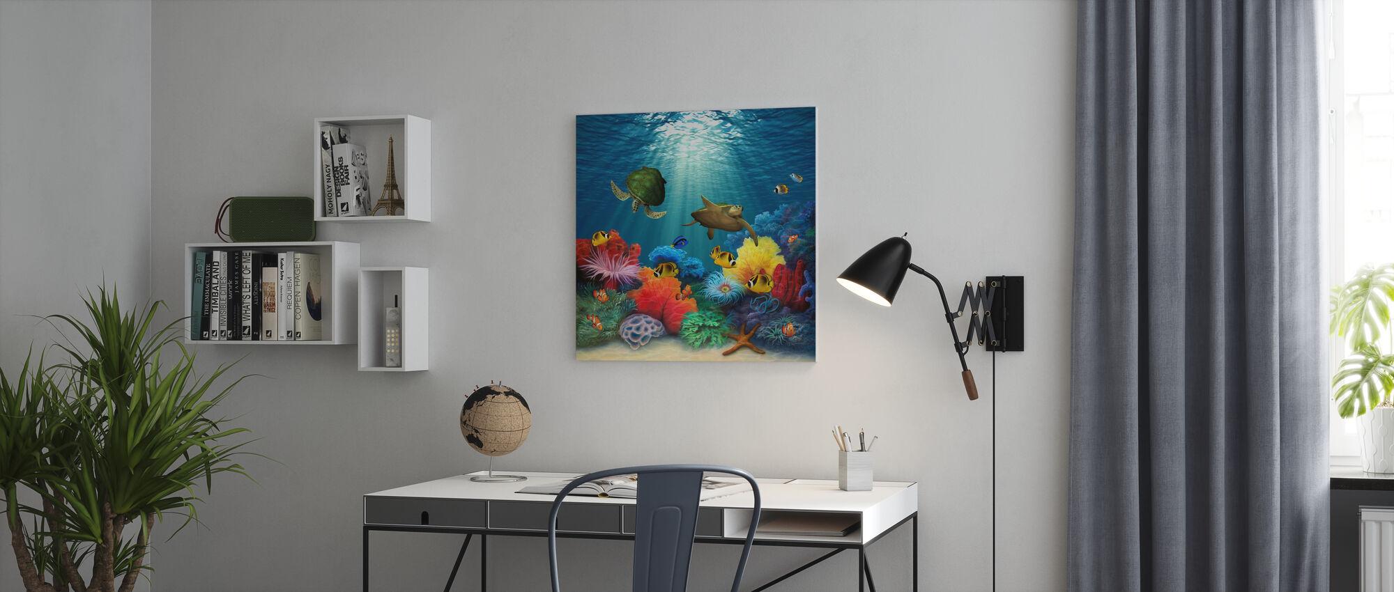 Coral Sea - Canvas print - Office