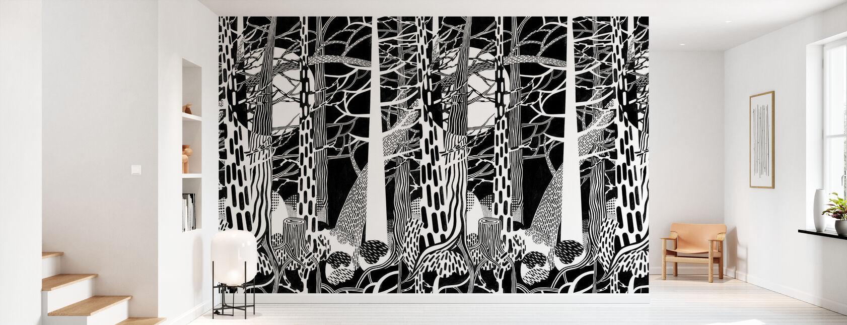 Fir Forest - Wallpaper - Hallway