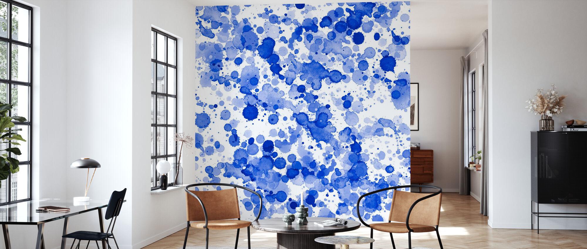 Blå dråber - Tapet - Stue