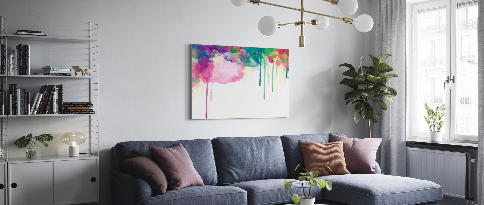 Colour Drips - Canvas print - Living Room