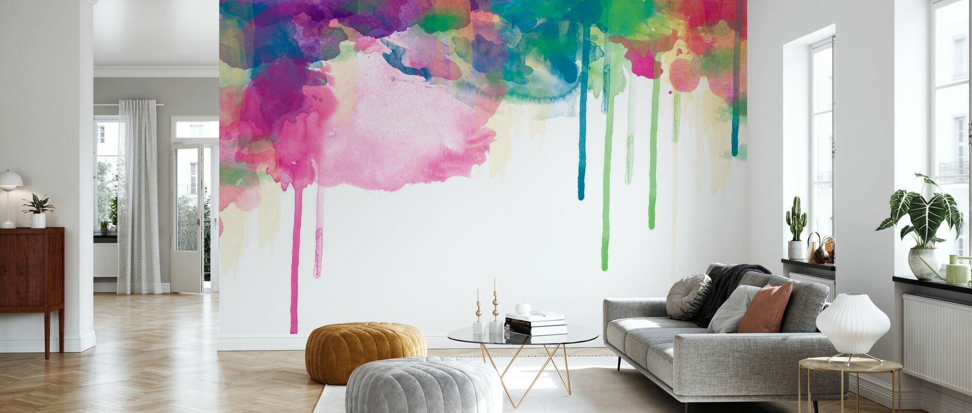 Colour Drips - Wallpaper - Living Room