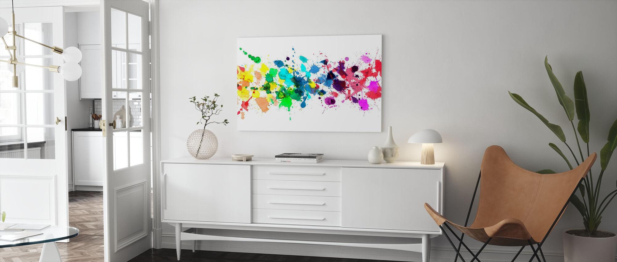 Watercolour Rainbow - Canvas print - Living Room