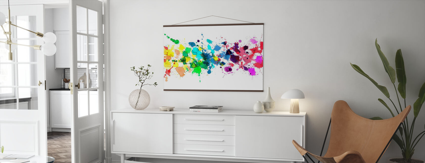 Watercolour Rainbow - Poster - Living Room