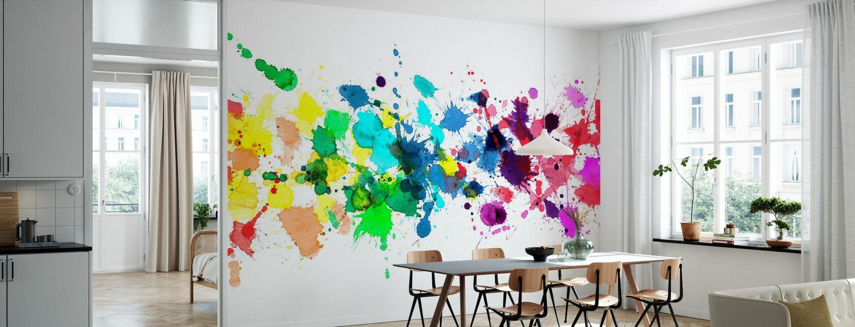 Watercolour Rainbow - Wallpaper - Kitchen