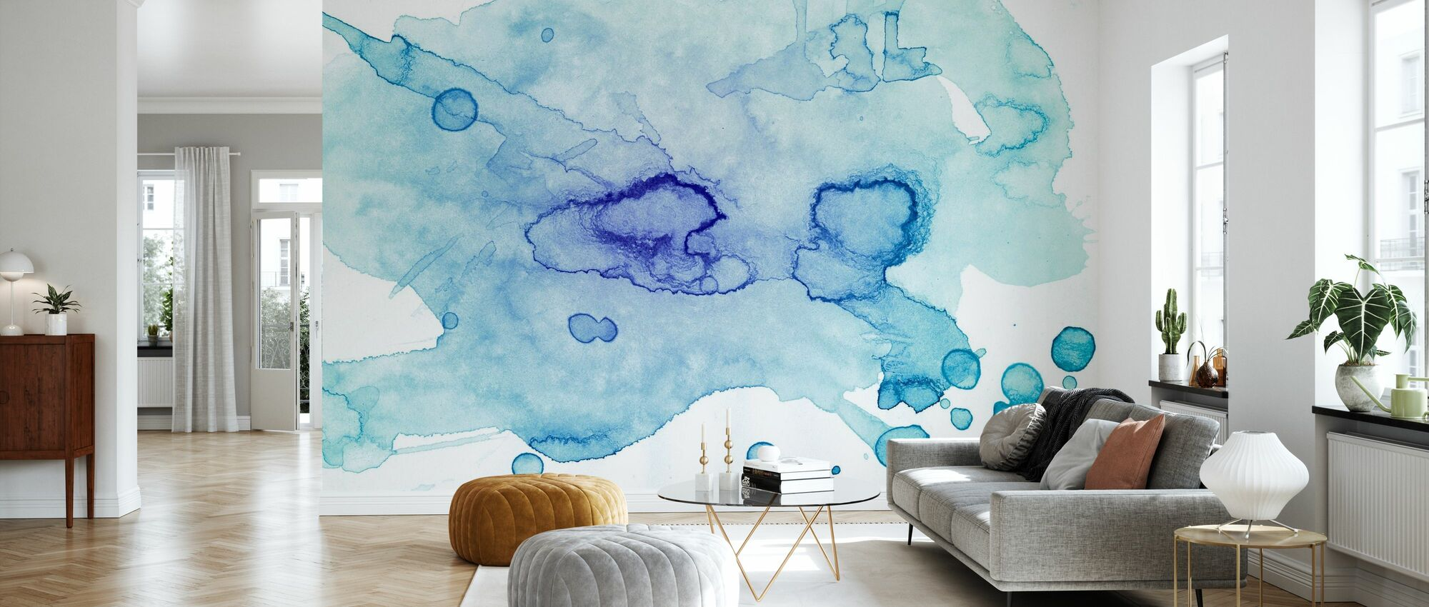 Colour Puddle - Wallpaper - Living Room