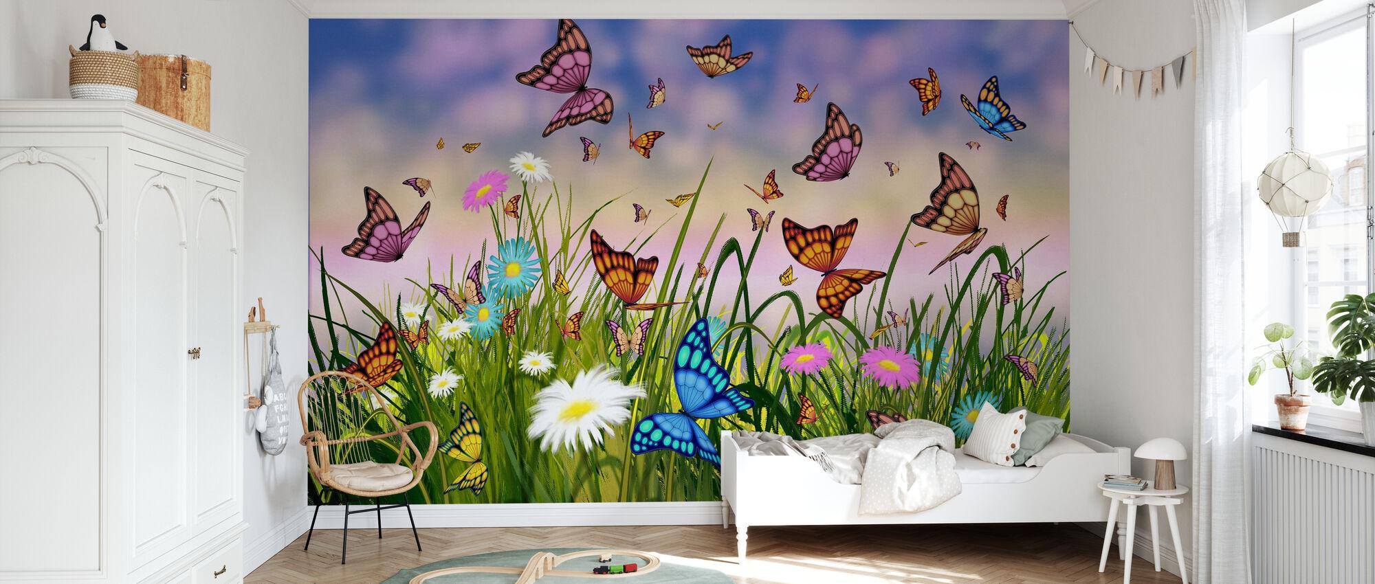 Butterfly Dreams - Wallpaper - Kids Room