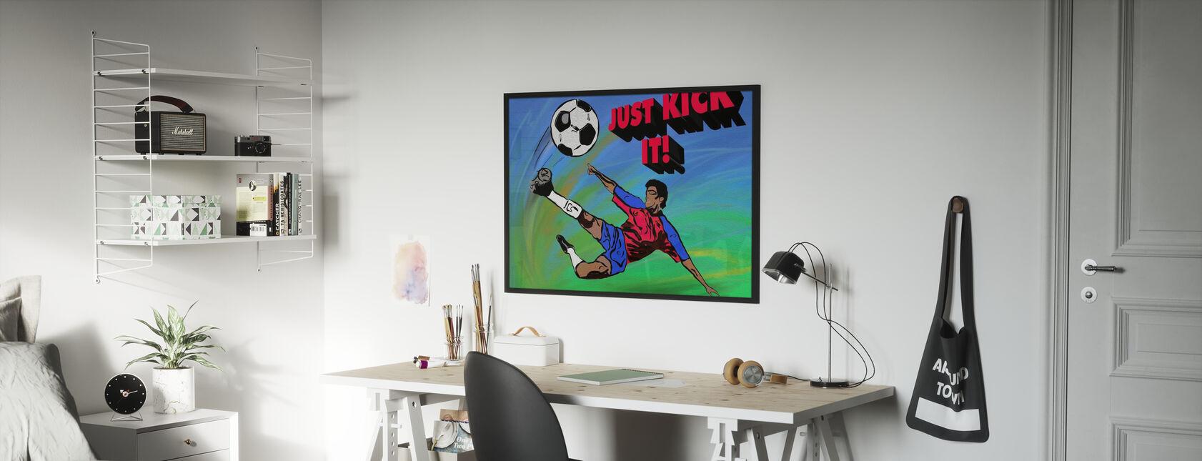 Kick es einfach - Poster - Kinderzimmer