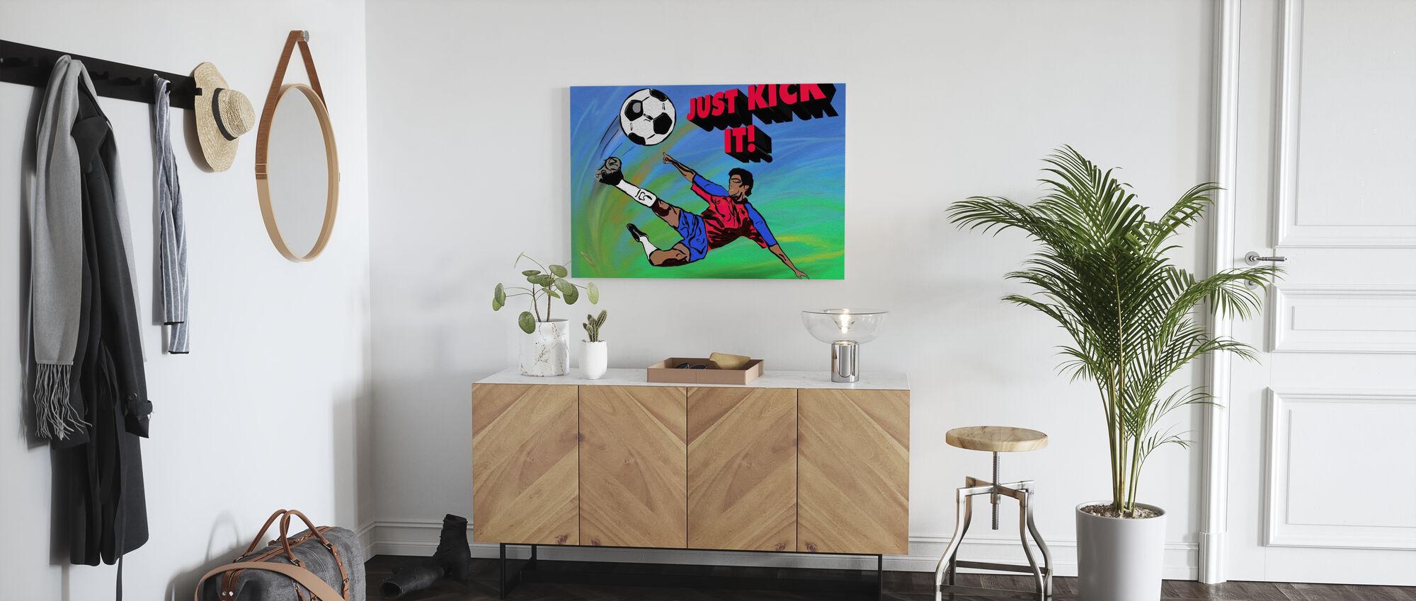 Just Kick It - Canvas print - Hallway