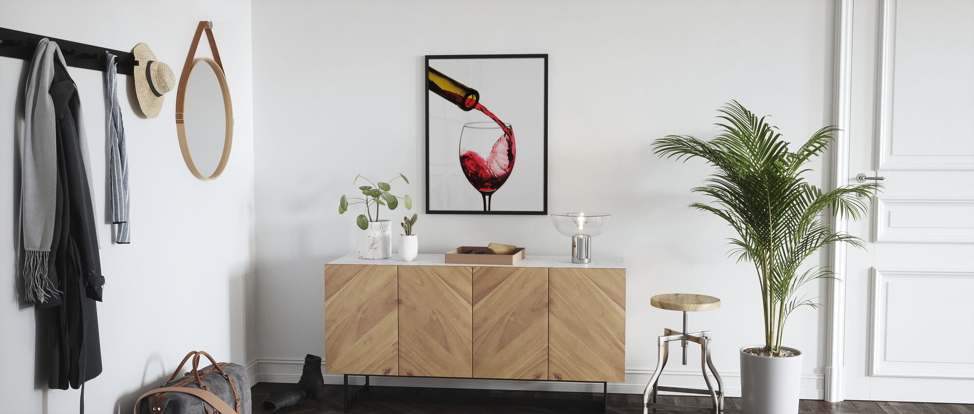 Red Wine Pour - Poster - Hallway
