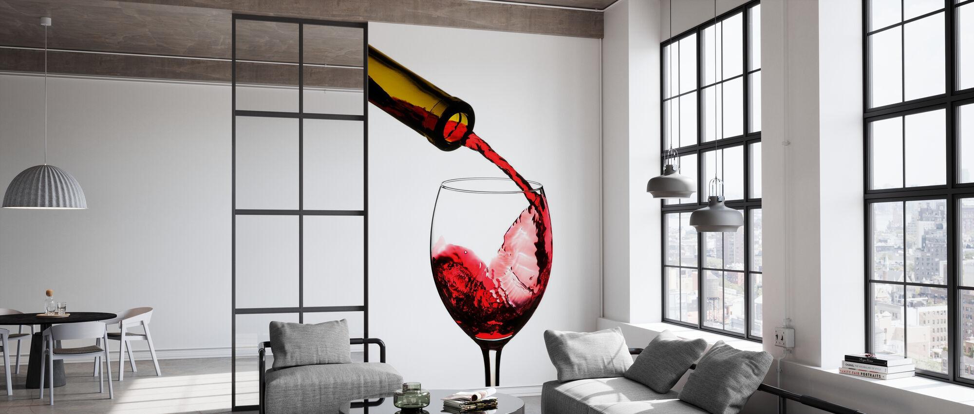 Rotwein Pour - Tapete - Büro