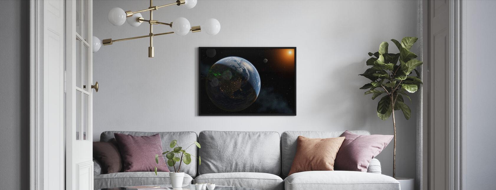 Lichten op aarde - Ingelijste print - Woonkamer