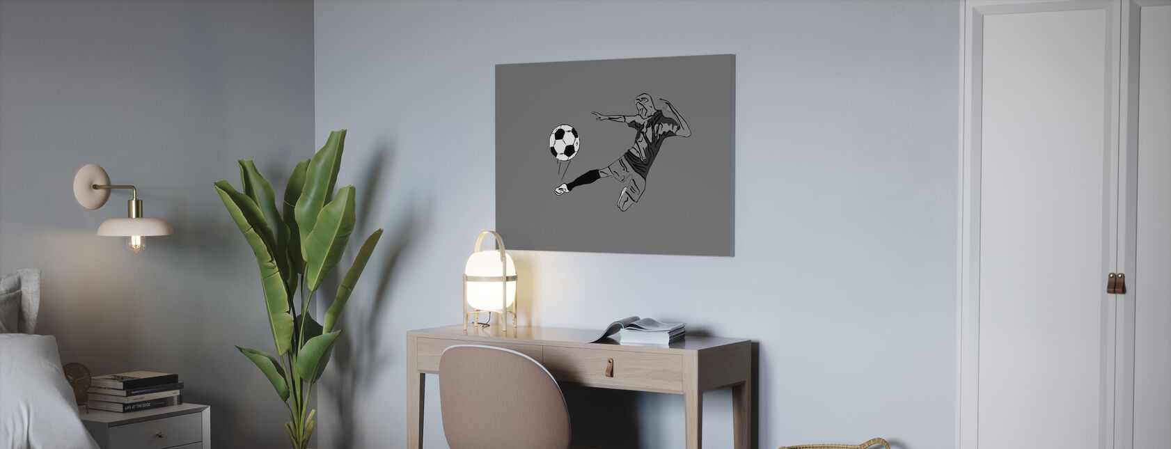 Kick It - Grijs - Canvas print - Kantoor