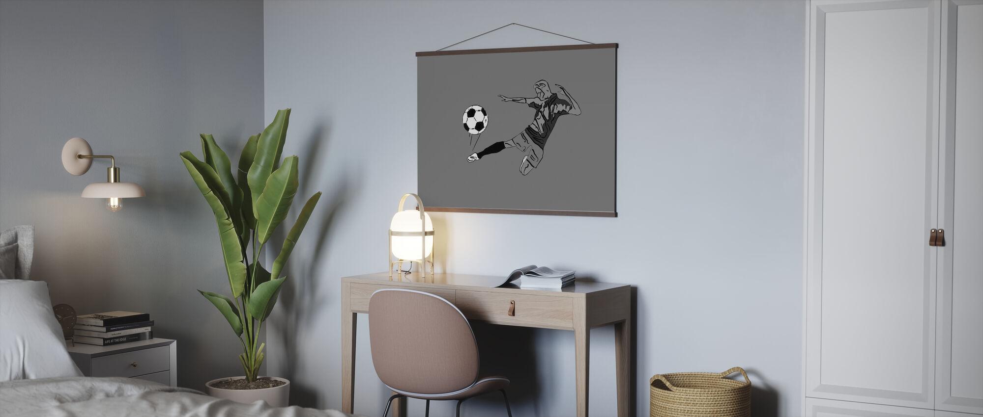 Kick It - Grijs - Poster - Kantoor