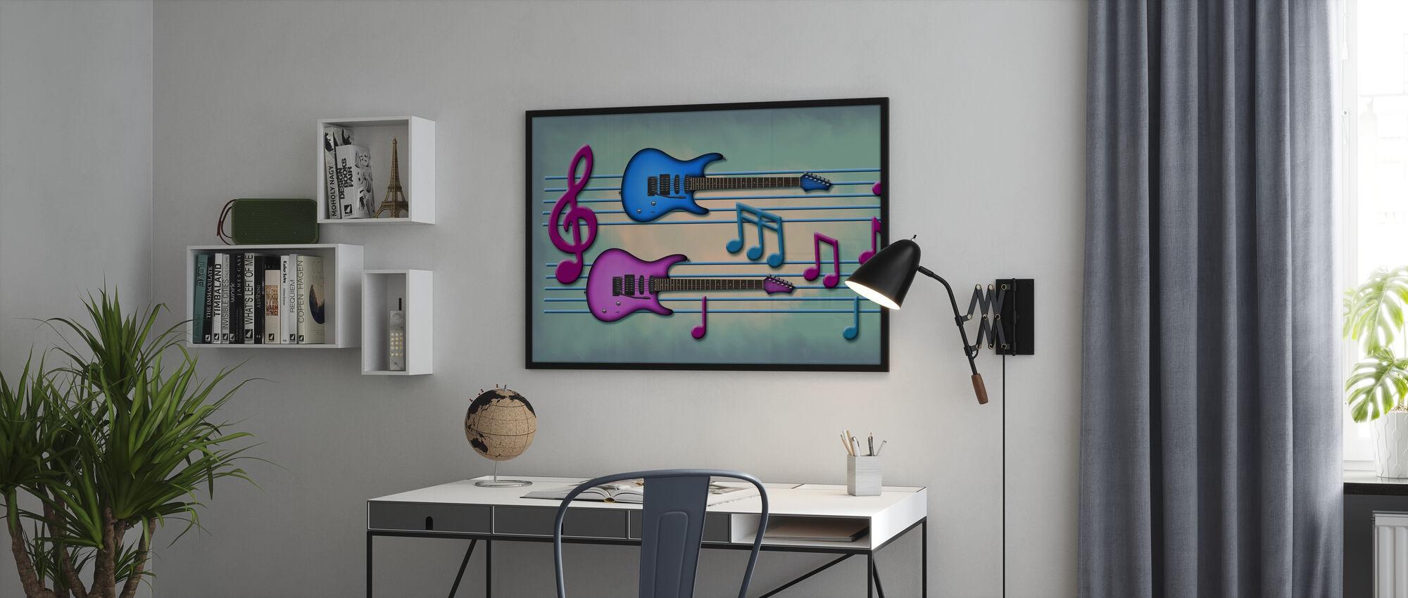 Färger av musik - Poster - Kontor