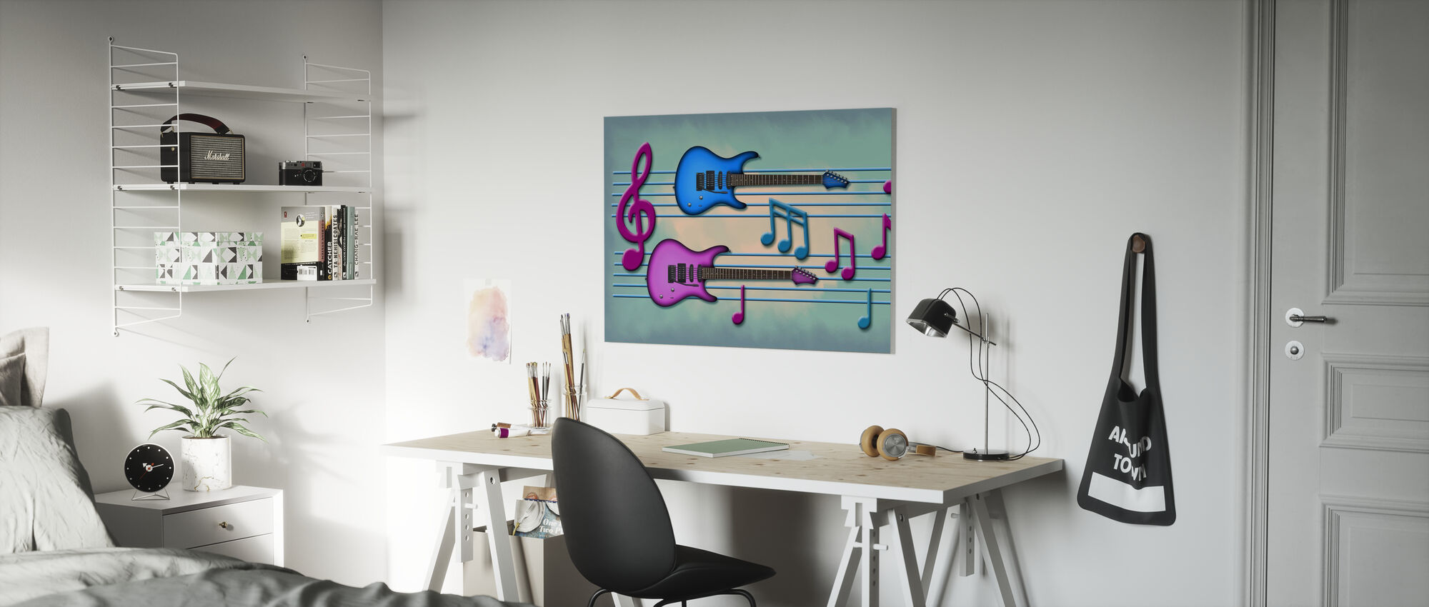 Colors of Music - Canvas print - Kids Room