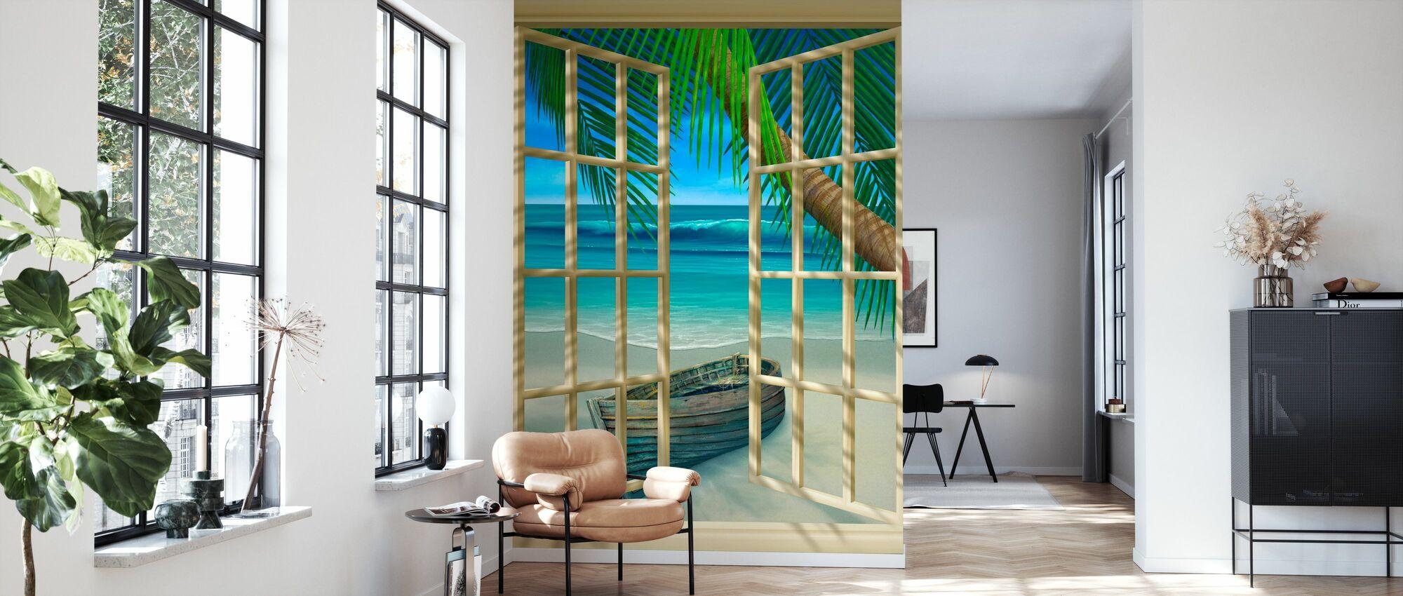 Tropischer Moment - Tapete - Wohnzimmer