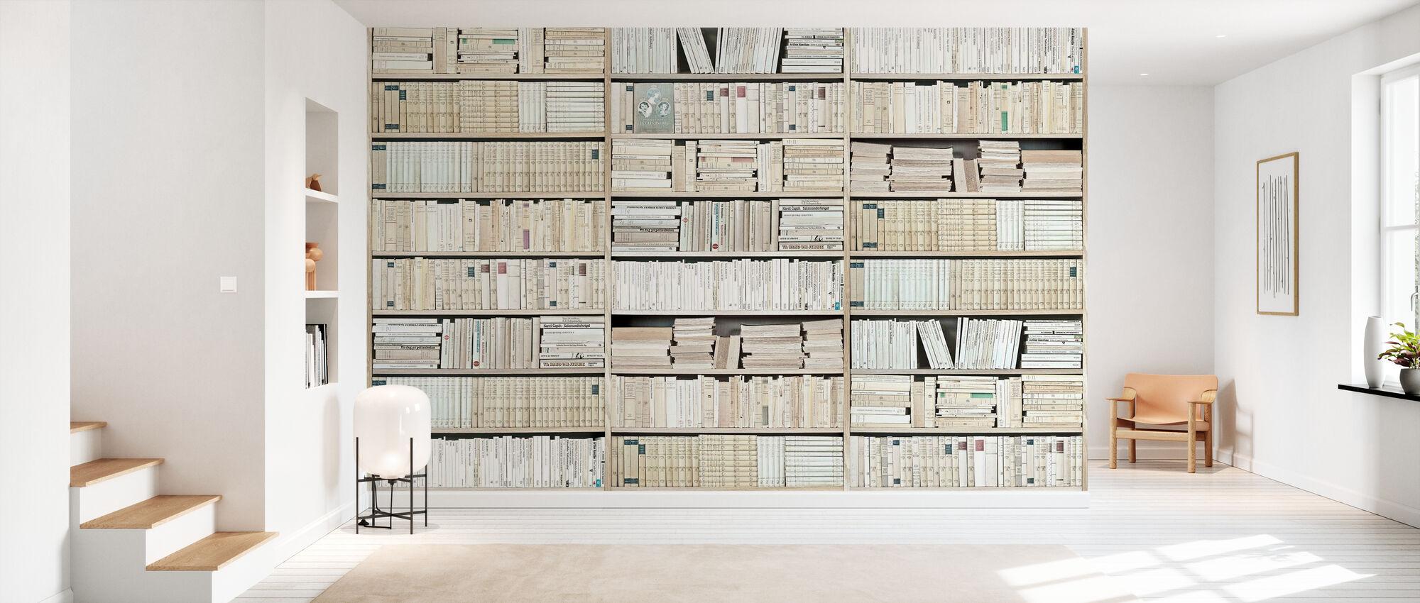 Bibliothèque - Blanc - Papier peint - Entrée