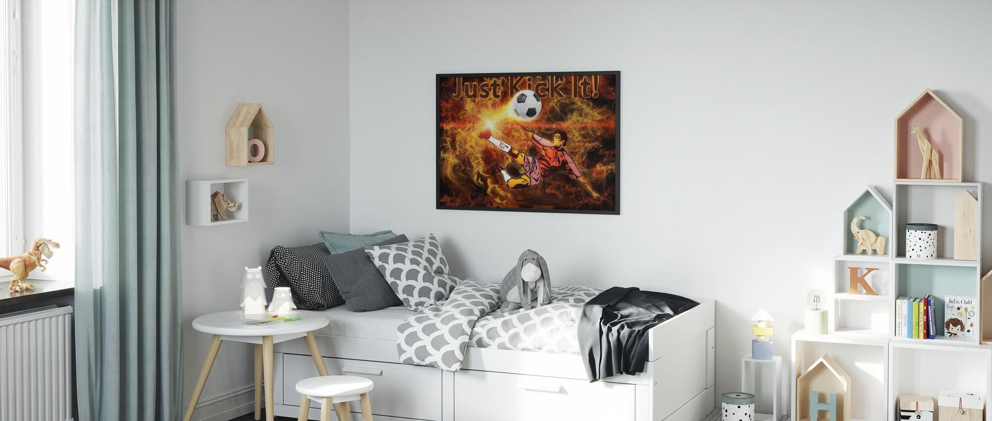 Voetbal Warmte - Poster - Kinderkamer