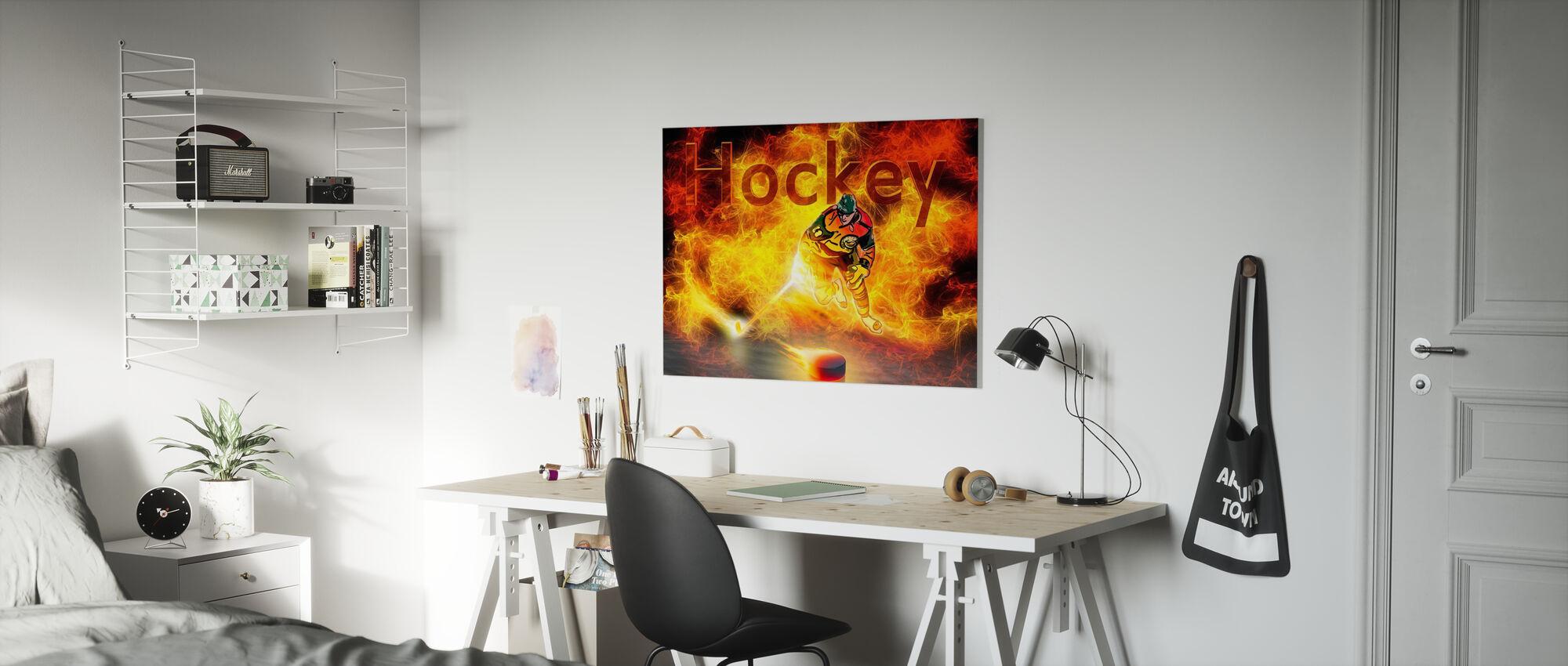 Hockeywärme - Leinwandbild - Kinderzimmer