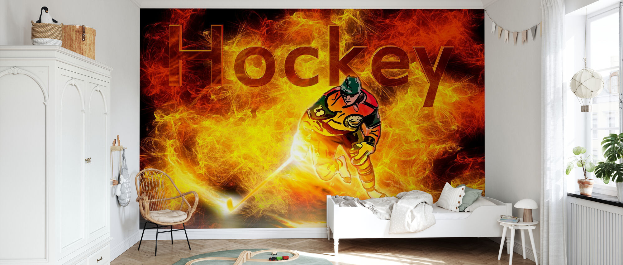 Hockey Heat - Tapet - Barnerom