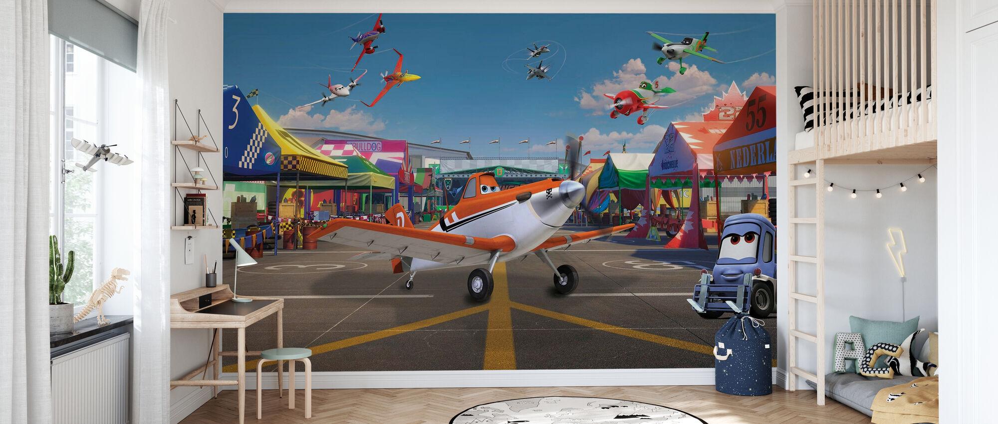 Lentokoneet - pölyinen lentokoneessa - Tapetti - Lastenhuone